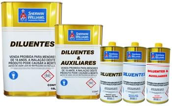 Linha de produtos que contempla todos os diluentes necessários para obter a melhor performance dos produtos diluídos da Shewrin-Williams. Produzidos com matérias-primas nobres e adequados ao uso em conjunto com todos os produtos da Sherwin-Williams Divisão Automotiva.