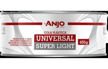 COLA PLÁSTICA UNIVERSAL SUPER LIGHT Use a Cola Plástica Universal Super Light da Anjo para nivelar ou corrigir imperfeições em repinturas automotivas com resultado profissional. Pode ser utilizada para acabamento em madeira (uso interno), mármore e granito.