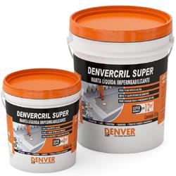 Denvercril Super Manta líquida impermeabilizante Manta liquida impermeabilizante aplicada a frio. Consumo: 1,2 kg / m² Embalagem: Galão 4 kg / Balde 12 kg