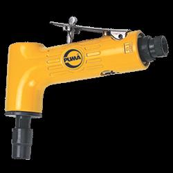 Ferramentas pneumáticas de movimento rotativo não reversível são indicadas para acabamento dimensional por excelência e são muito úteis em trabalhos de superfície que necessitem alta rotação. • Assentamento de sedes de válvulas de motores a explosão • Reparação de soldas-ponto em carrocerias de veículos • Preparação para pintura de áreas de difíceis acessos em latarias de veículos • Lixamento de objetos diversos com sistema Roloc (3M) ou Speed Lock (Norton)